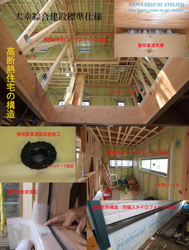 豊中市S邸の高断熱構造
