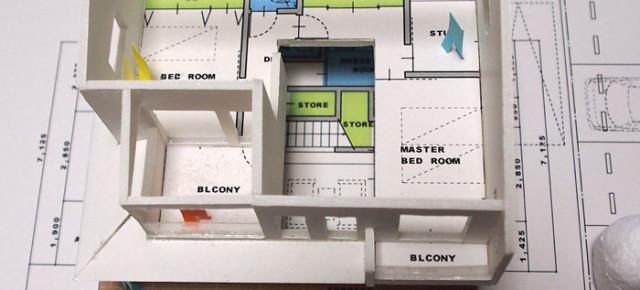 住宅模型の内部空間?